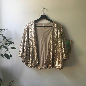 Rose-Gold Sequin Jacket